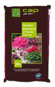 Terreau Géraniums et Plantes fleuries